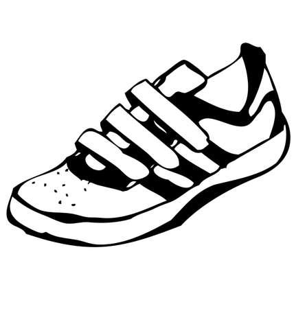 Cartoon sneakers shoe illustration Stock Illustration - 19591725