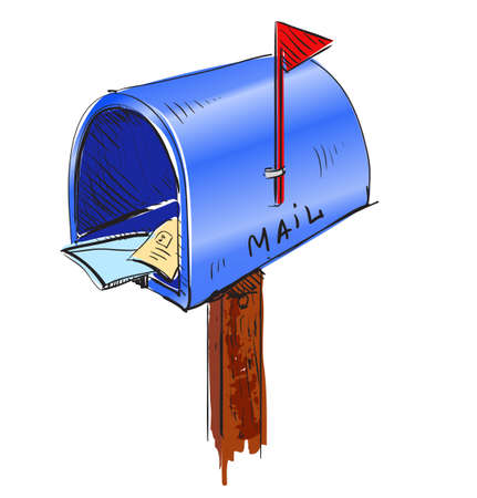 Mailbox cartoon icon Illustration
