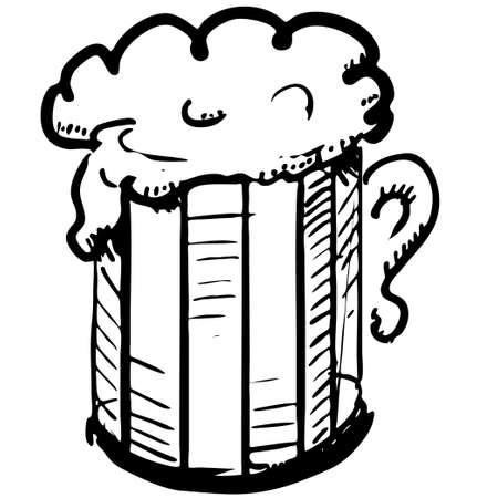 Beer in mug Vector