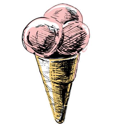 Ice cream in a cone photo