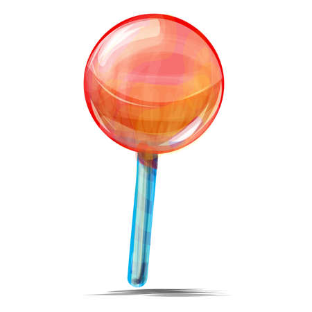 lolly pop: Delicious lolly pop isolated on white