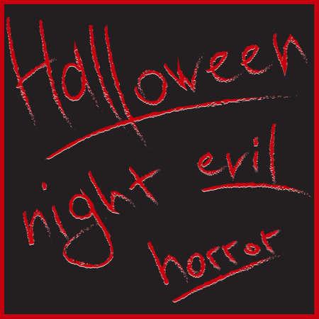 Letras sangrientas para el diseño de Halloween Foto de archivo - 19591942