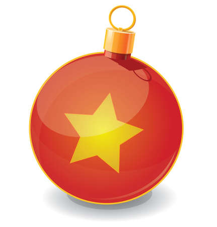 Christmas toy ball icon Stock Vector - 19591803