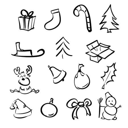 Christmas objects collection Stock Vector - 19591811