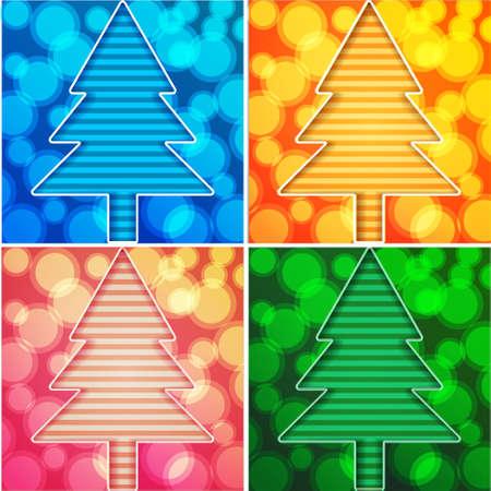 congradulations: Christmas tree cards