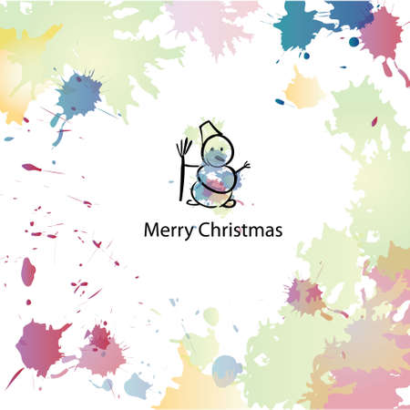 Christmas cartoon background Vector
