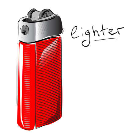 Lighter cartoon sketch illustration Vector