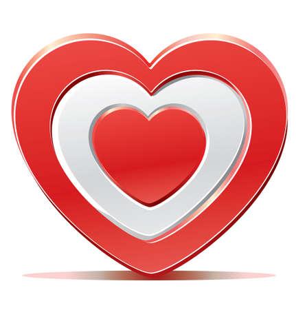 Red heart target aim Vector