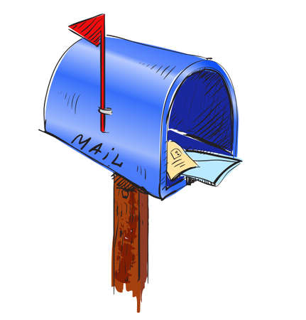 Mailbox cartoon icon Ilustrace