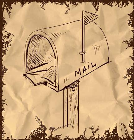 Mailbox cartoon icon Illustration