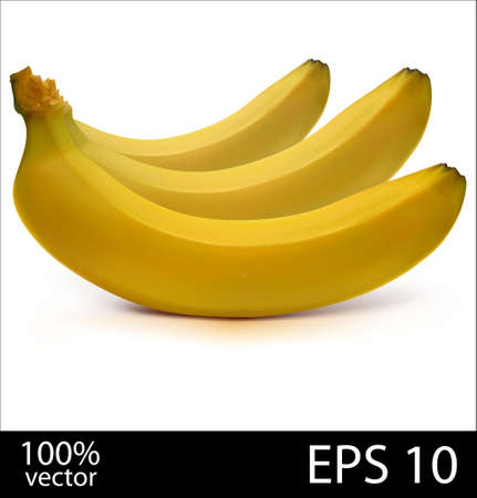 batch: Three bananas in batch Illustration
