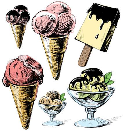 ice cream on a stick: Colecci�n Helado