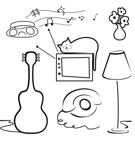 Interior objects Stock Vector - 19897905