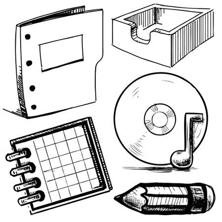 Office objects collection Stock Vector - 19898285