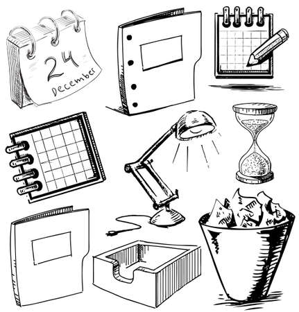 Collection of office objects Stock Vector - 19898183