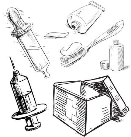 Medical stuff set Stock Vector - 19898129