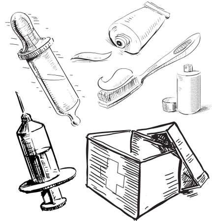 Medical stuff set Stock Vector - 19898129