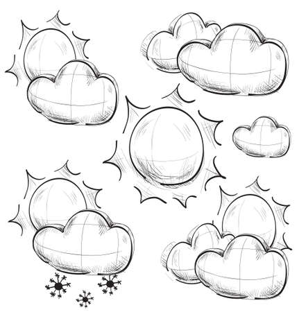 Day weather icons set Stock Vector - 19898245