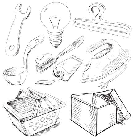 Household stuff set Vector