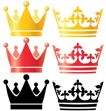 crown silhouette: Corone impostati