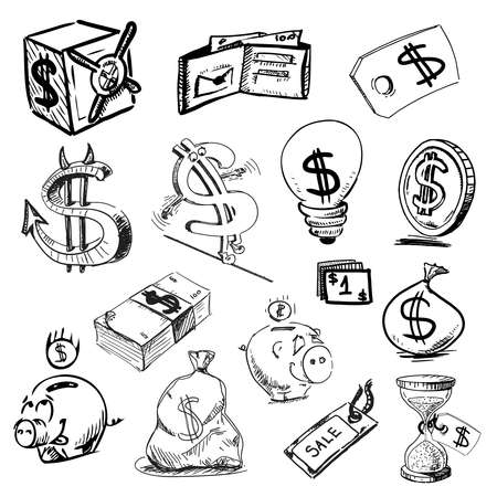 payday: Hand drawing sketch  illustration