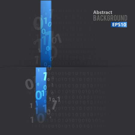 Digital background with blue line Stock Illustratie