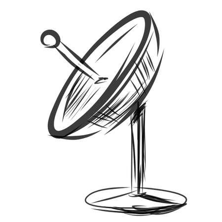 Satellite dish. Sketch vector illustration Stock Vector - 22819773