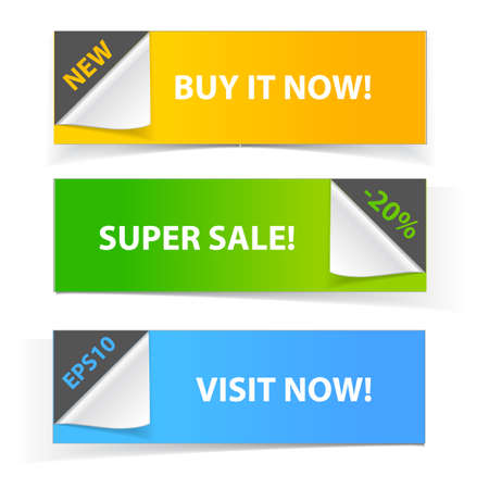 Colorful set of promotional sale banners