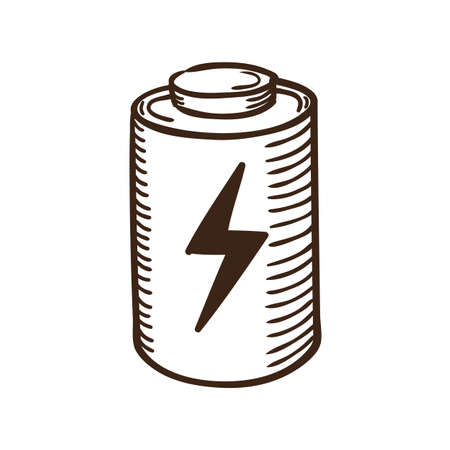 cell charger: Isolated sketch icon pictogram.