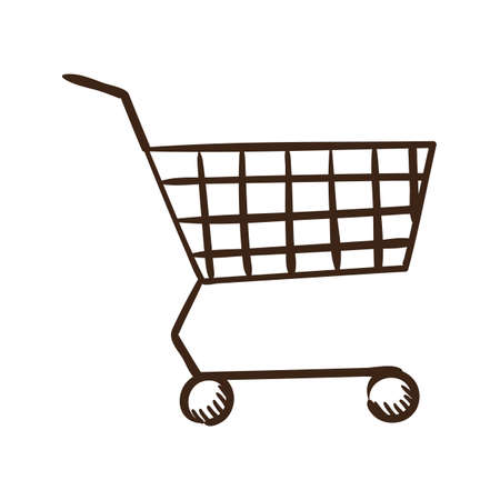 add to shopping cart icon: Isolated sketch icon pictogram.