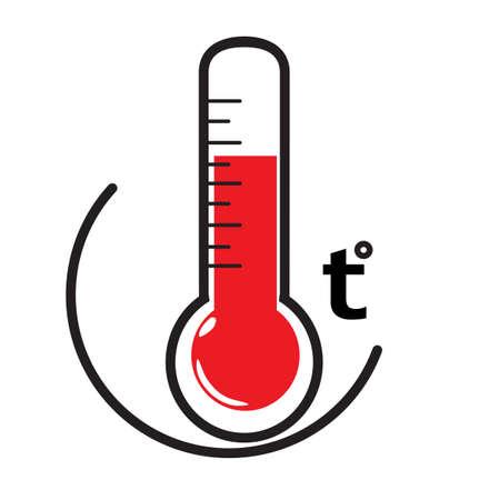 Thermometer temperature icon.  Illustration