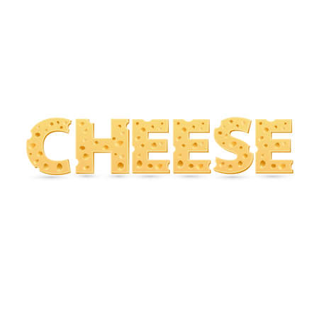 Cheese word of cheese. Vector word template Illustration