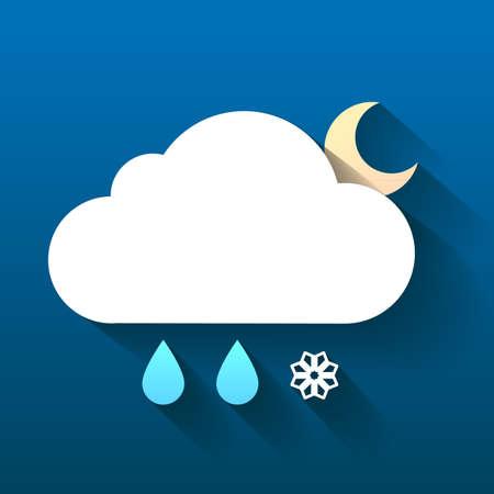 weather report: Weather symbol. Trendy flat icon design element.