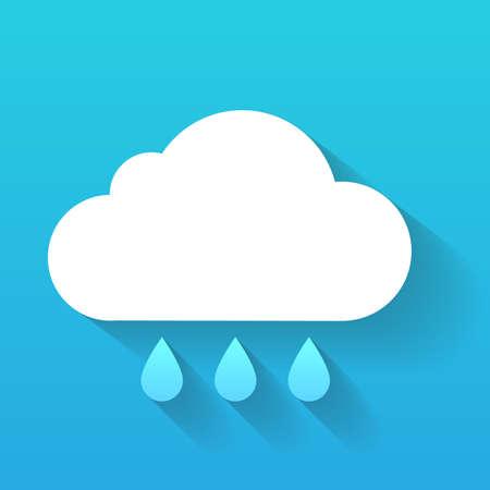 precipitation: Weather symbol. Trendy flat icon design element.