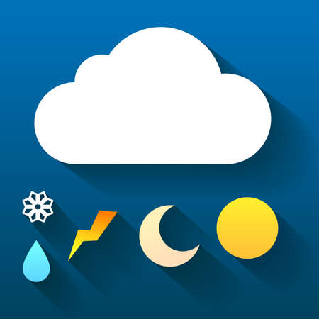 Weather symbol. Trendy flat icon design element. Vector