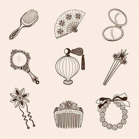 Hand drawn vintage style. Eps 10 vector illustration.