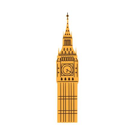 london big ben: Лондонский Биг-Бен башня, изолированных на белом