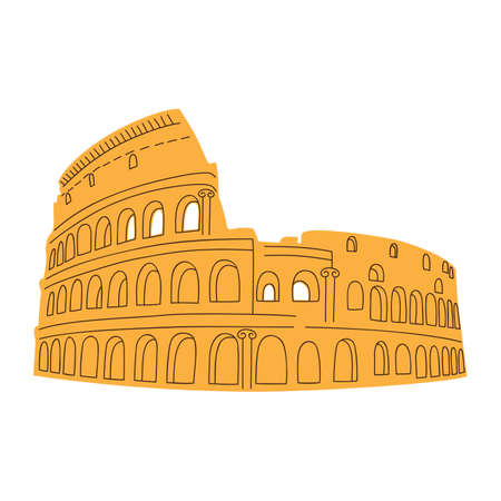 flavian: Colosseum isolated on white  Illustration