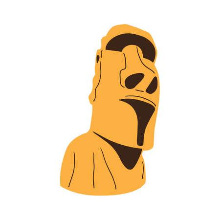 moai: Easter island Moai statue isolated on white