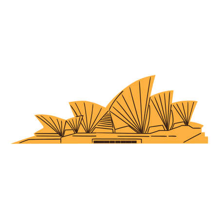 The Sydney Opera House isolated on white  Vector