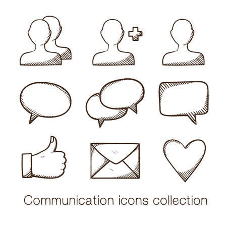 Communication icons collection. Vector