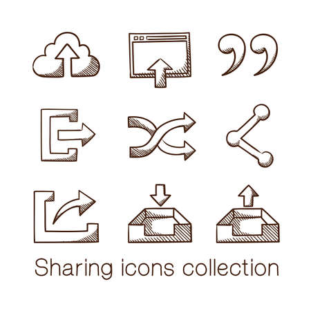 global settings: Sharing icons collection.