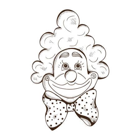 Clown face. Vector