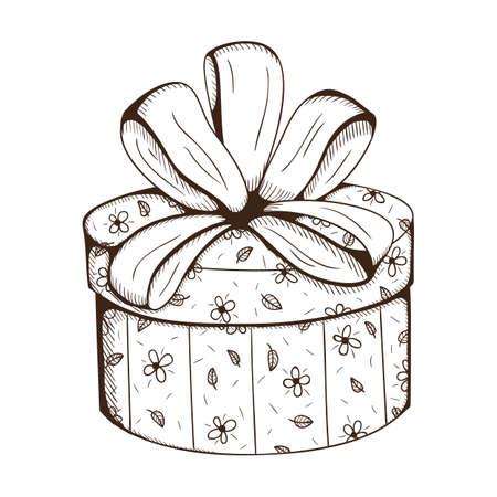 present box: Present box with decorative bow.