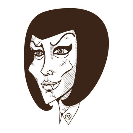 witch face: Woman witch face.