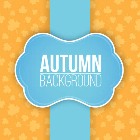 colorful leaves: Autumn background with leaves. Illustration