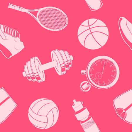 Sport seamless pattern. Vector
