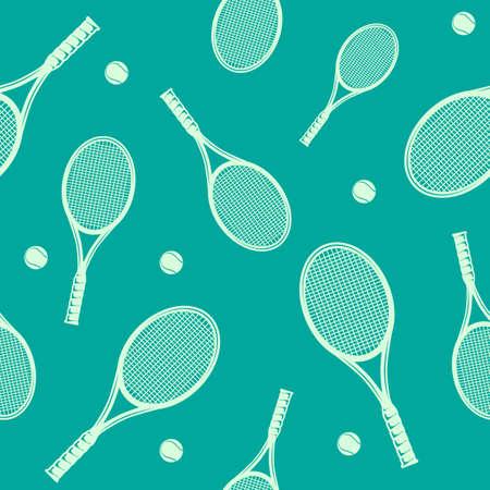 Tennis rackets seamless pattern. Vector