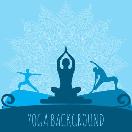 Yoga background. Illustration