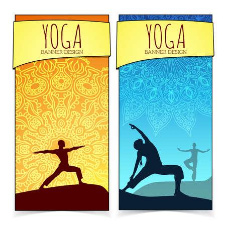 Yoga banner collection. Vector